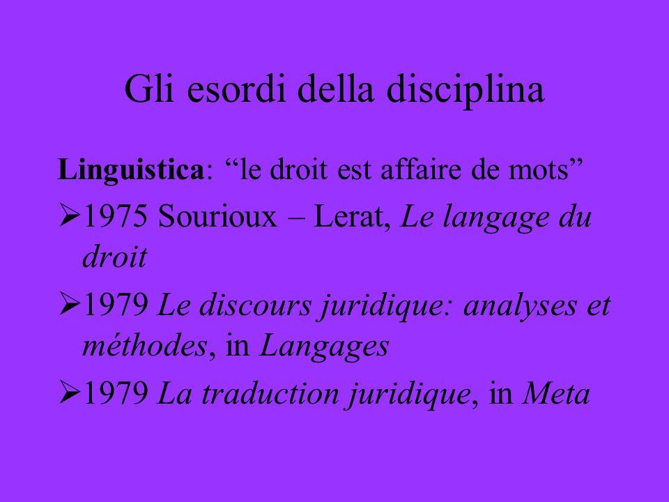 Gli esordi della disciplina