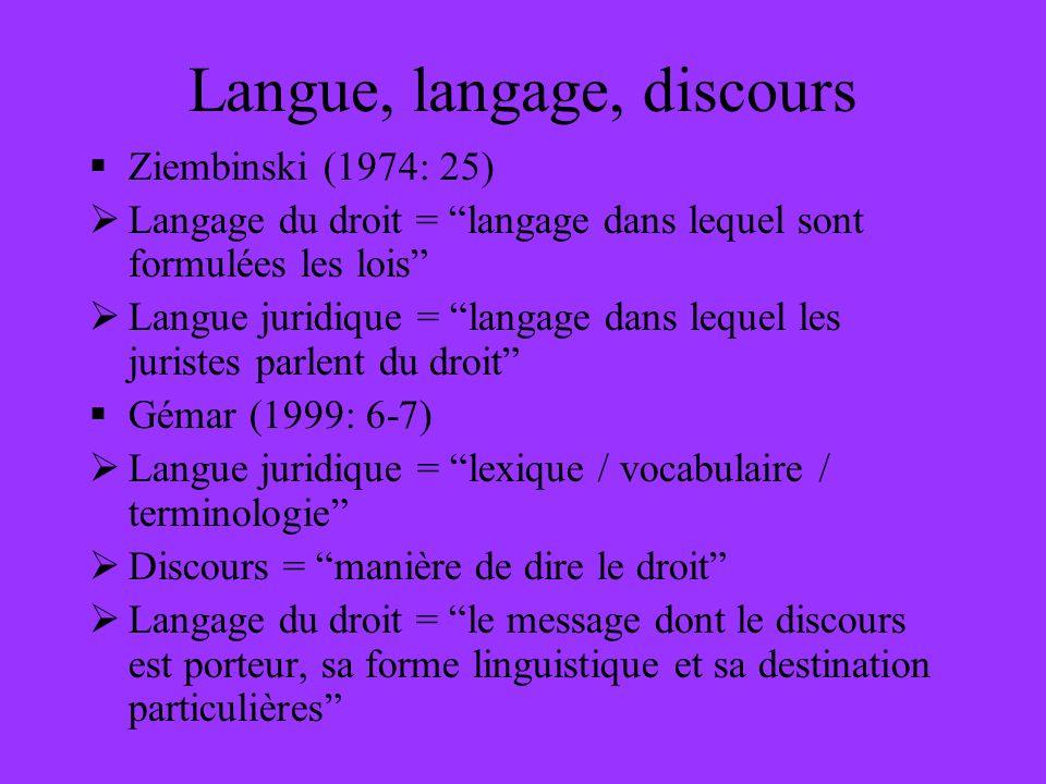 Langue, langage, discours