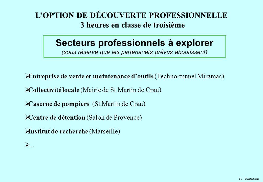 L option de d couverte professionnelle 3 heures en classe - Centre de formation salon de provence ...