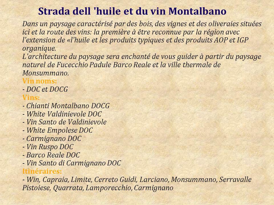 Strada dell huile et du vin Montalbano