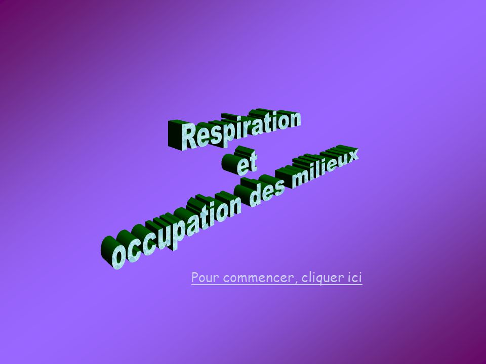 occupation des milieux