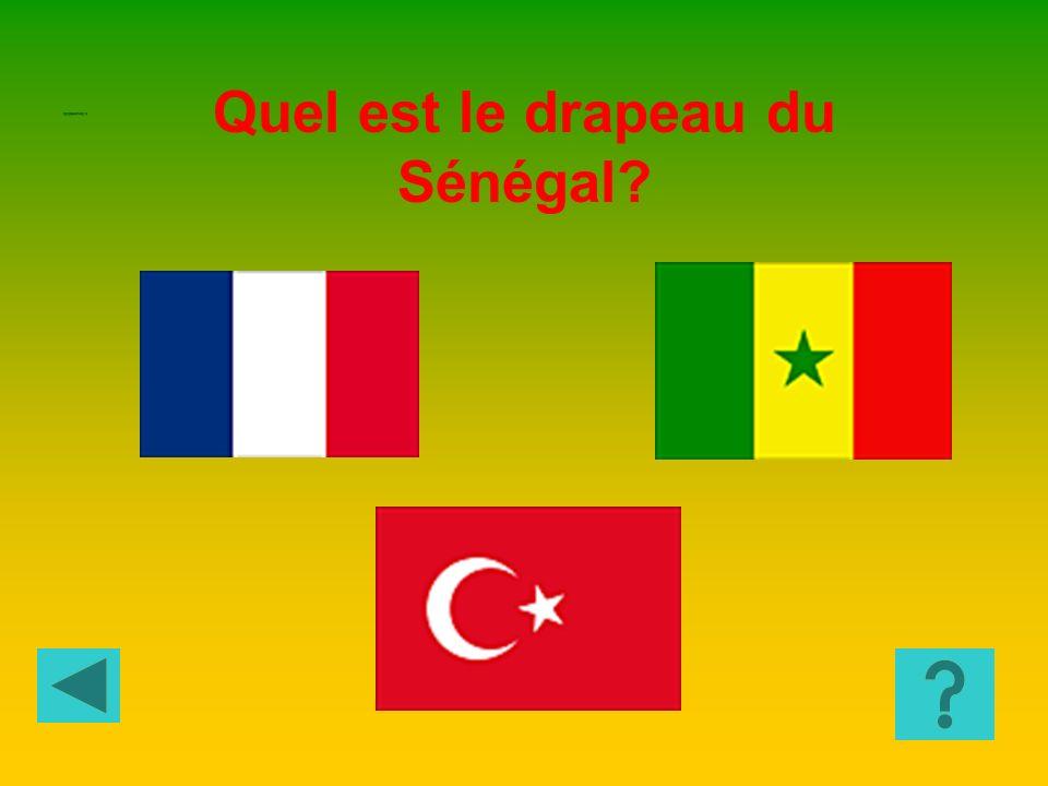 Quel est le drapeau du Sénégal