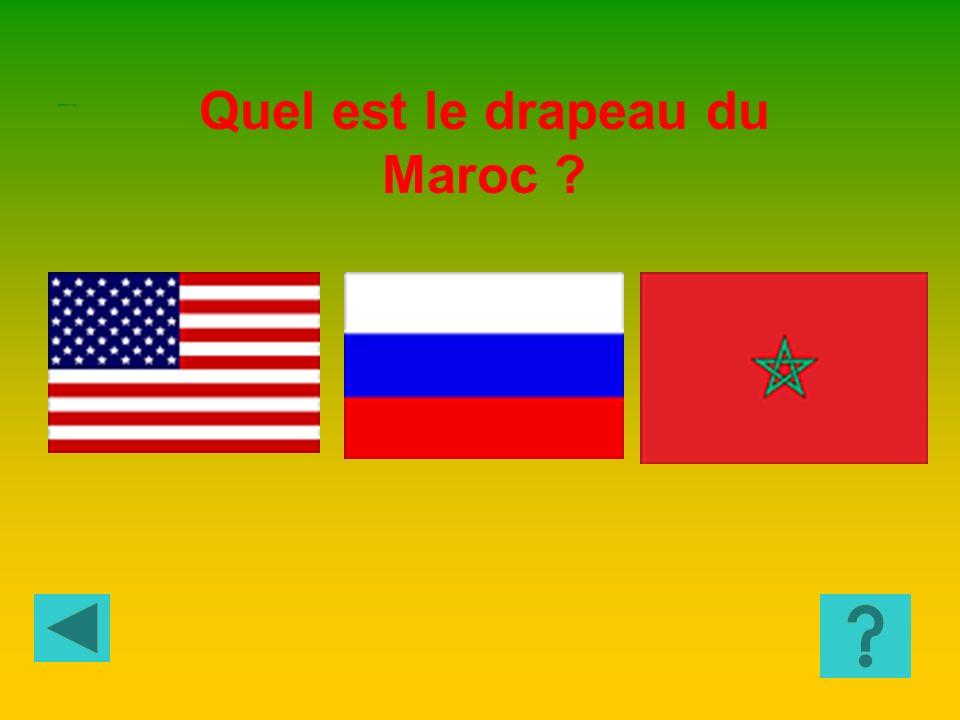 Quel est le drapeau du Maroc