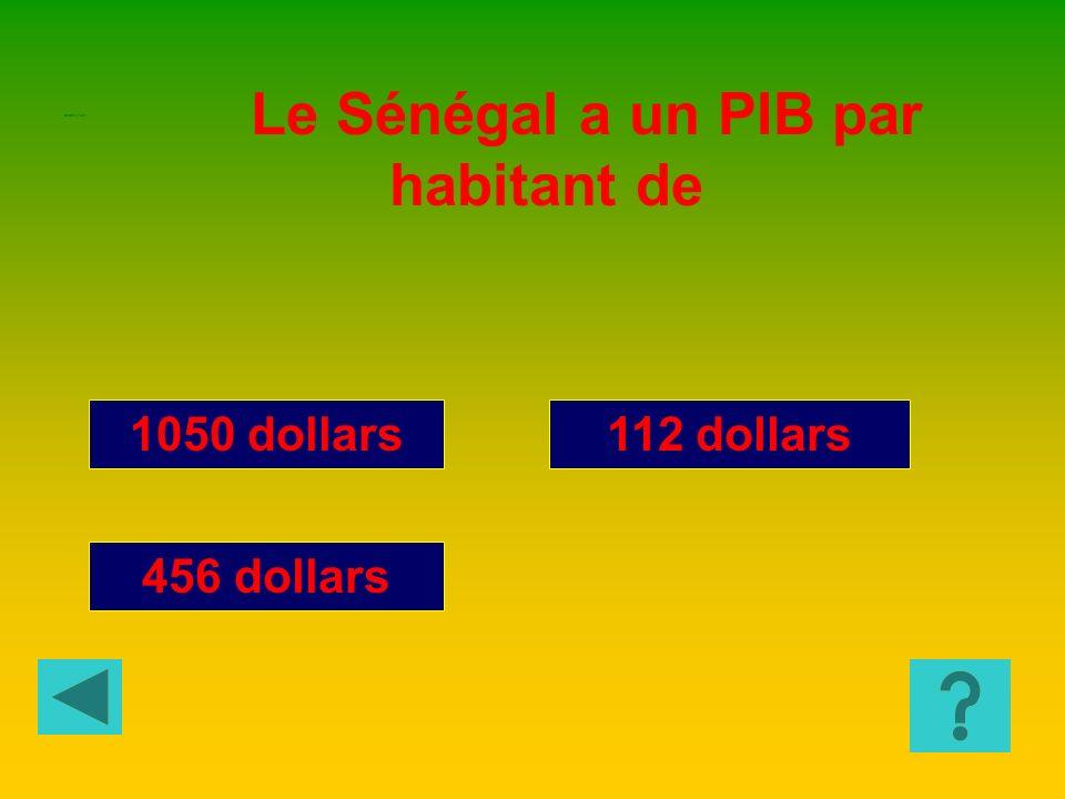 Le Sénégal a un PIB par habitant de