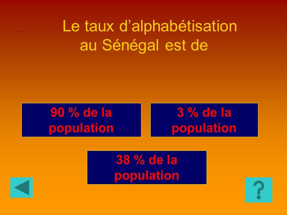 Le taux d'alphabétisation au Sénégal est de