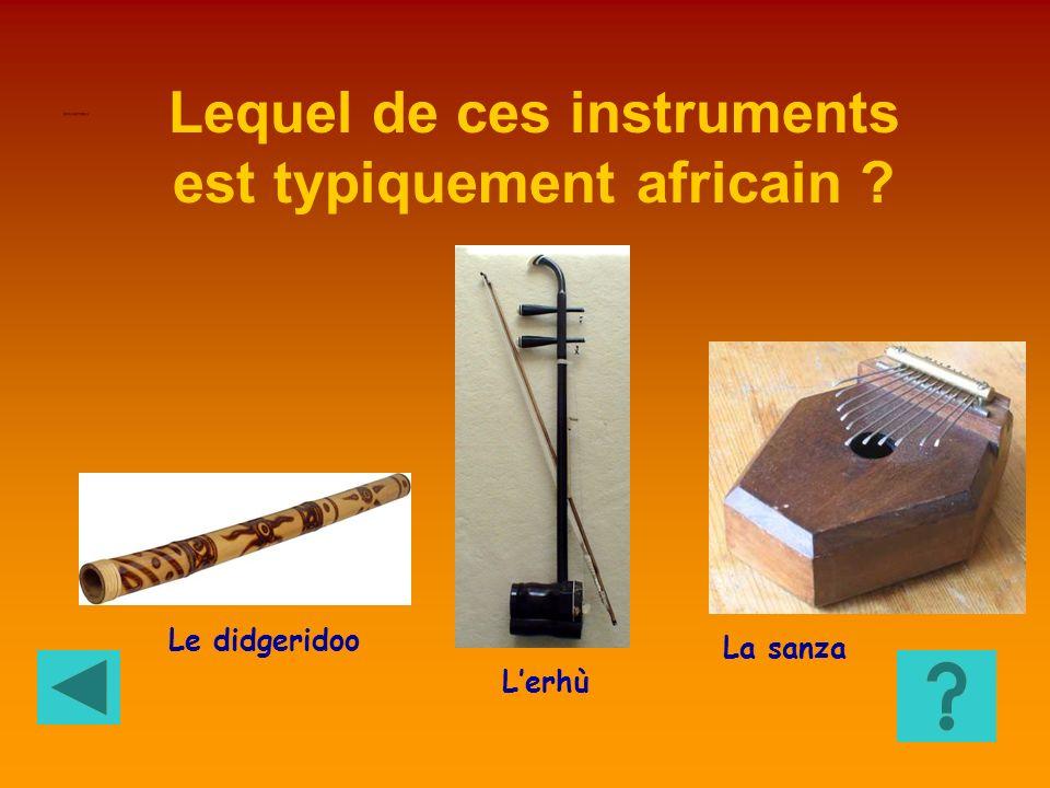 Lequel de ces instruments est typiquement africain