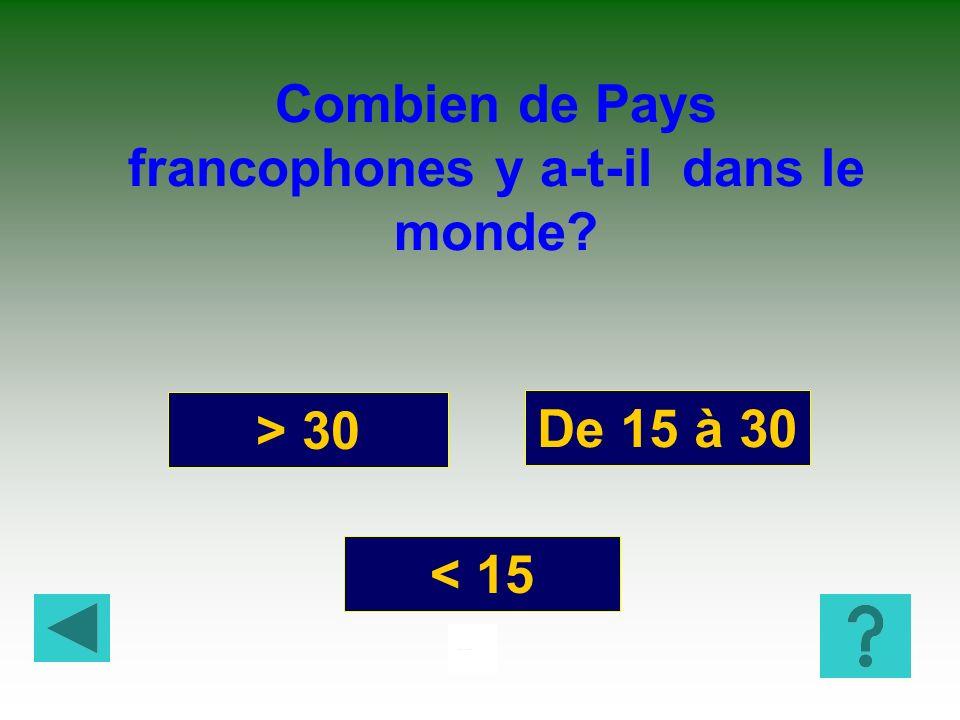 Combien de Pays francophones y a-t-il dans le monde