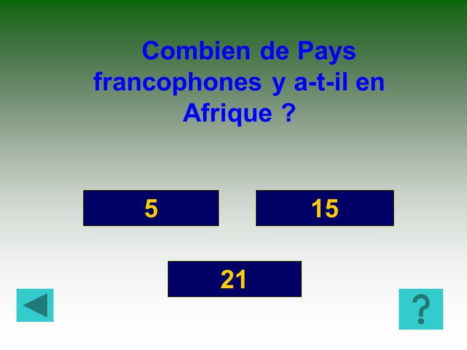 Combien de Pays francophones y a-t-il en Afrique