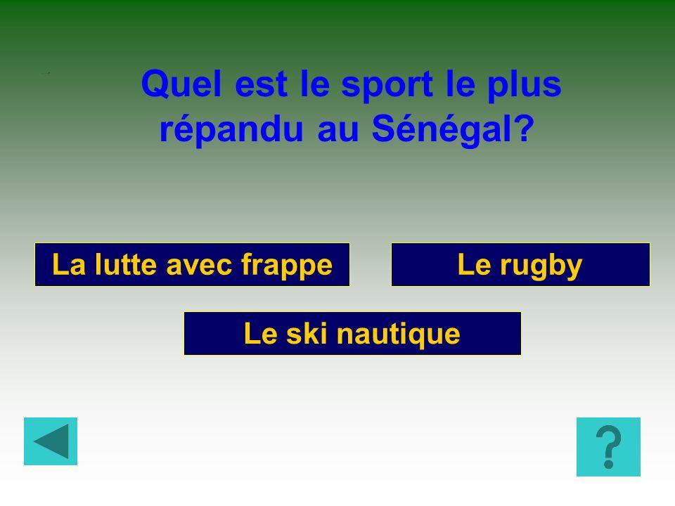 Quel est le sport le plus répandu au Sénégal