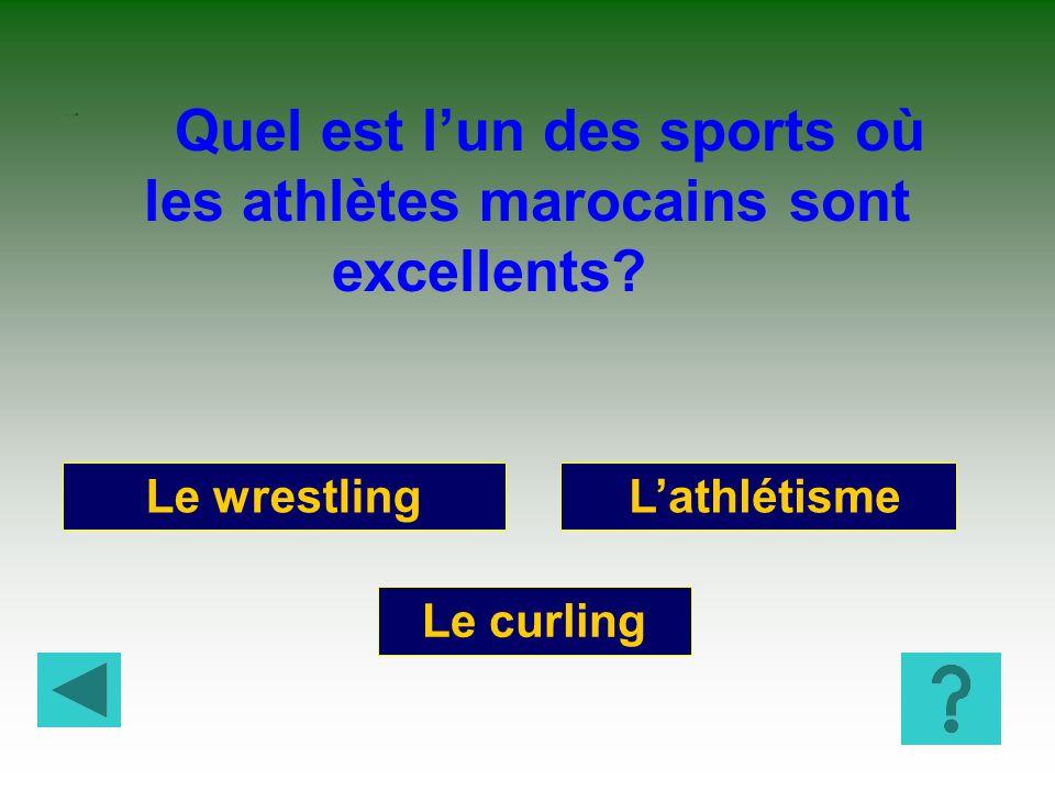 Quel est l'un des sports où les athlètes marocains sont excellents