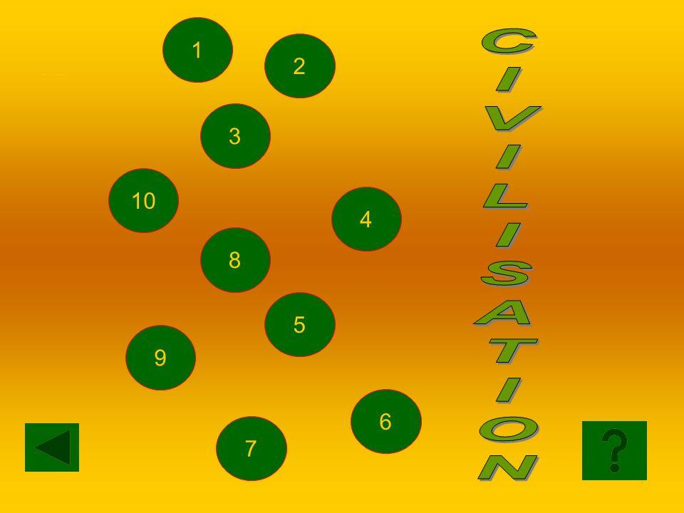 1 SCELTA CIVILISATION C I V L S A T O N 2 3 10 4 8 5 9 6 7