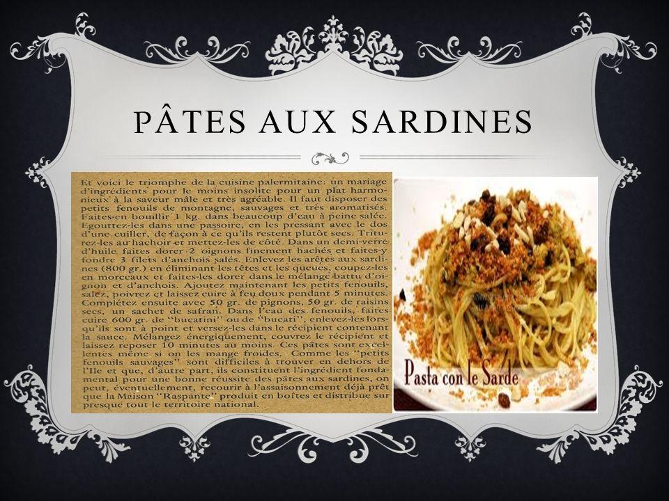 PÂTES AUX SARDINES