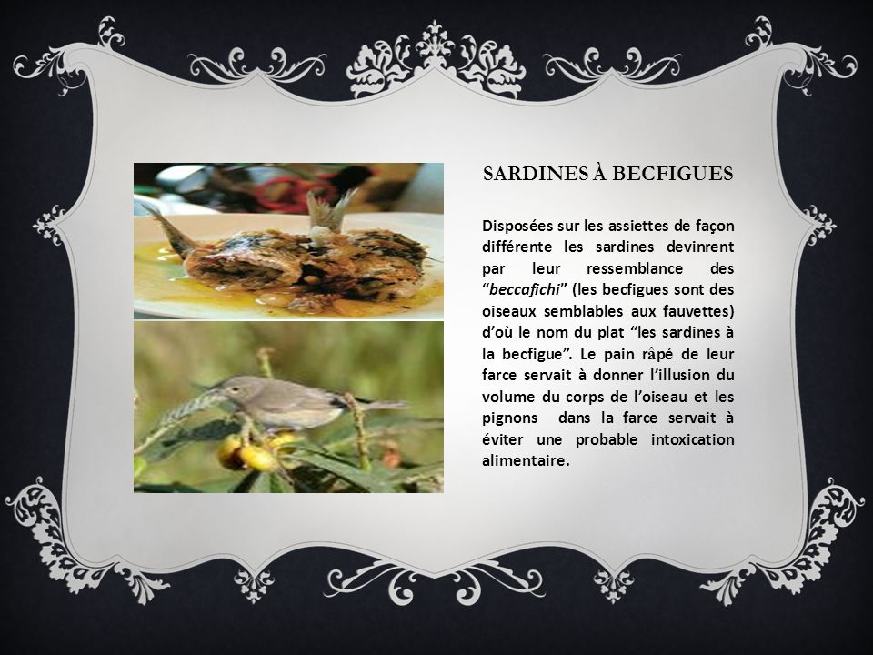 Sardines à becfigues