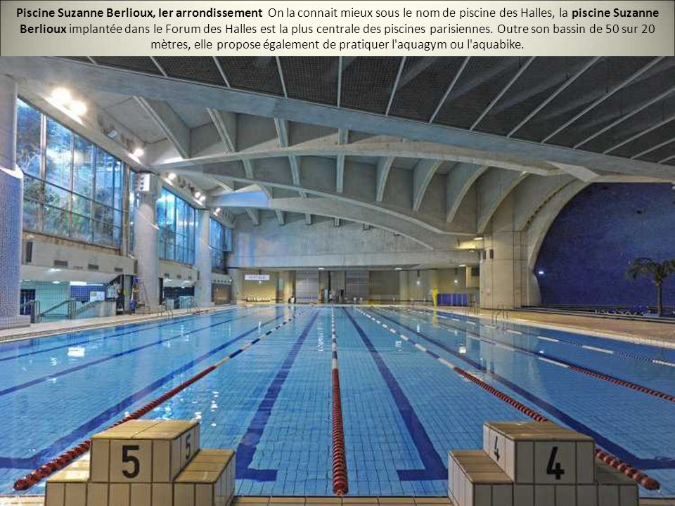 Les 20 plus belles piscines de paris ppt video online for Aquagym piscine paris
