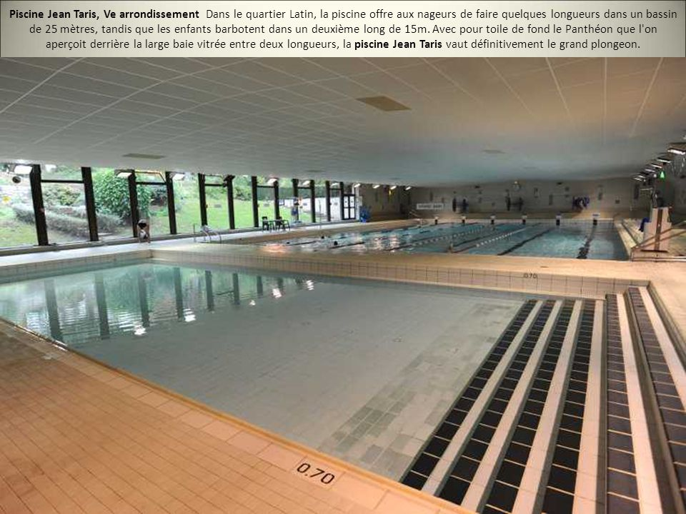 Les 20 plus belles piscines de paris ppt video online for Piscine jean taris