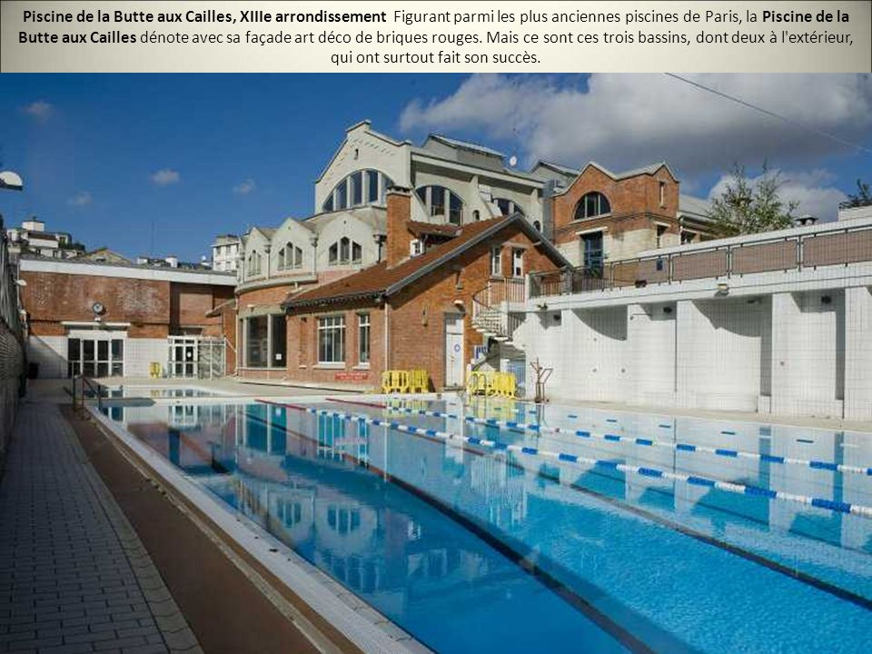 Les 20 plus belles piscines de paris ppt video online for Piscine butte aux cailles aquagym