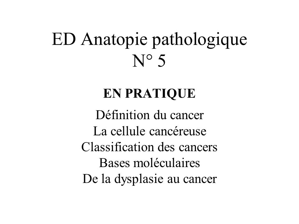 ED Anatopie pathologique N° 5
