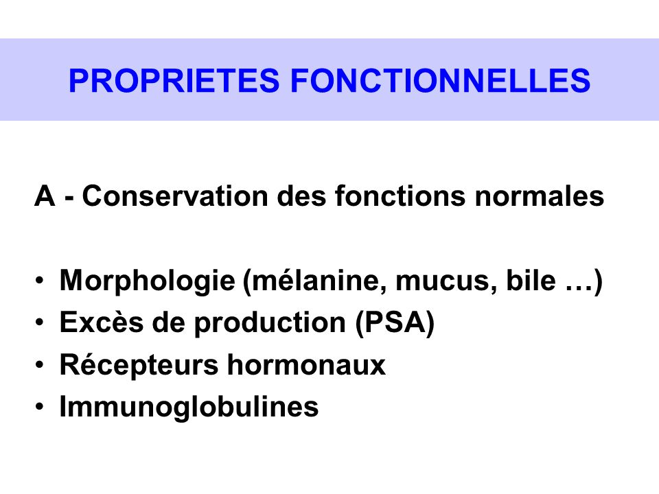 PROPRIETES FONCTIONNELLES