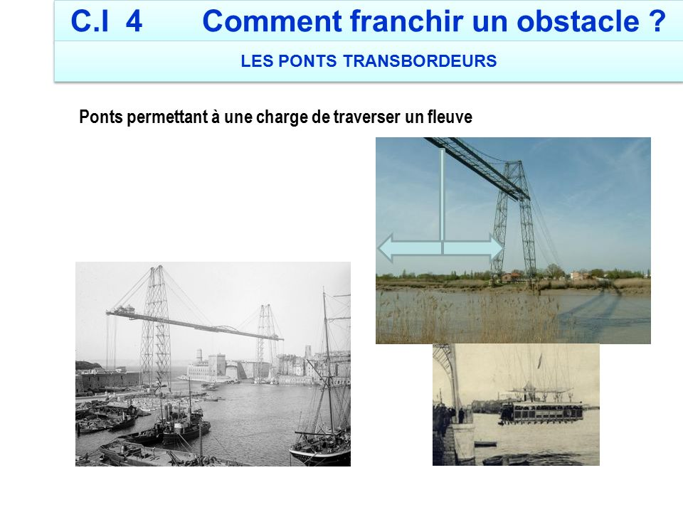 C.I 4 Comment franchir un obstacle LES PONTS TRANSBORDEURS