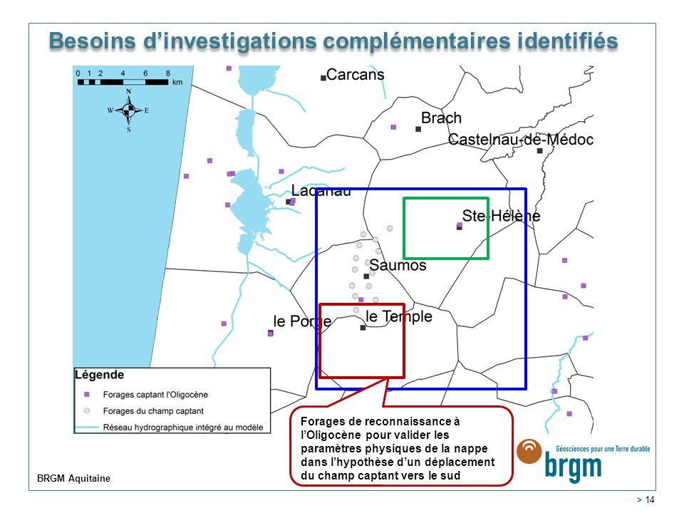 Besoins d'investigations complémentaires identifiés