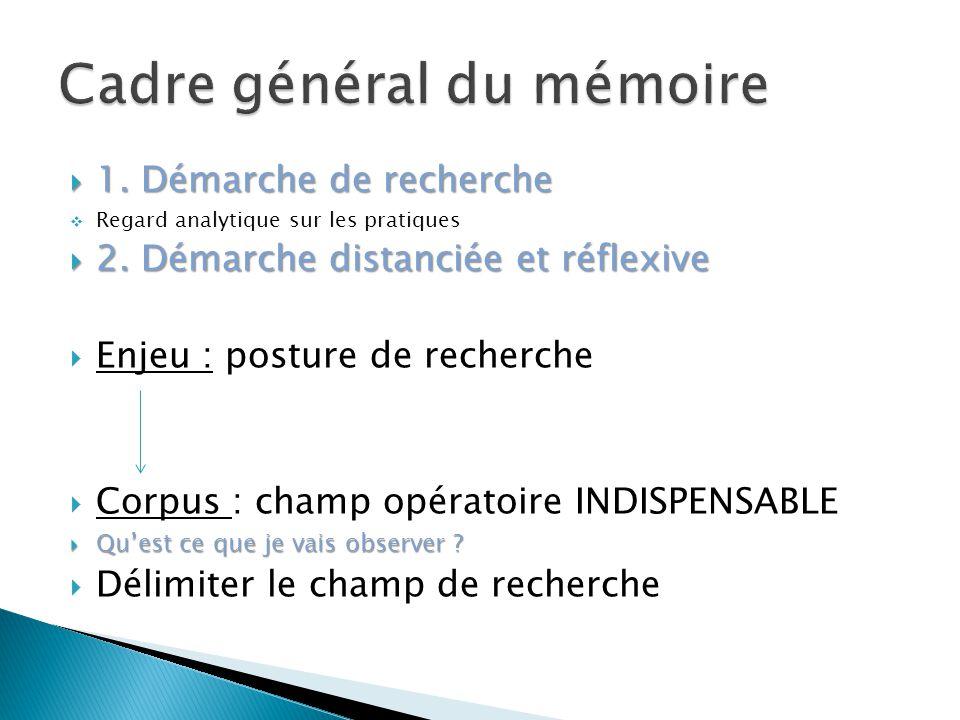 Cadre général du mémoire