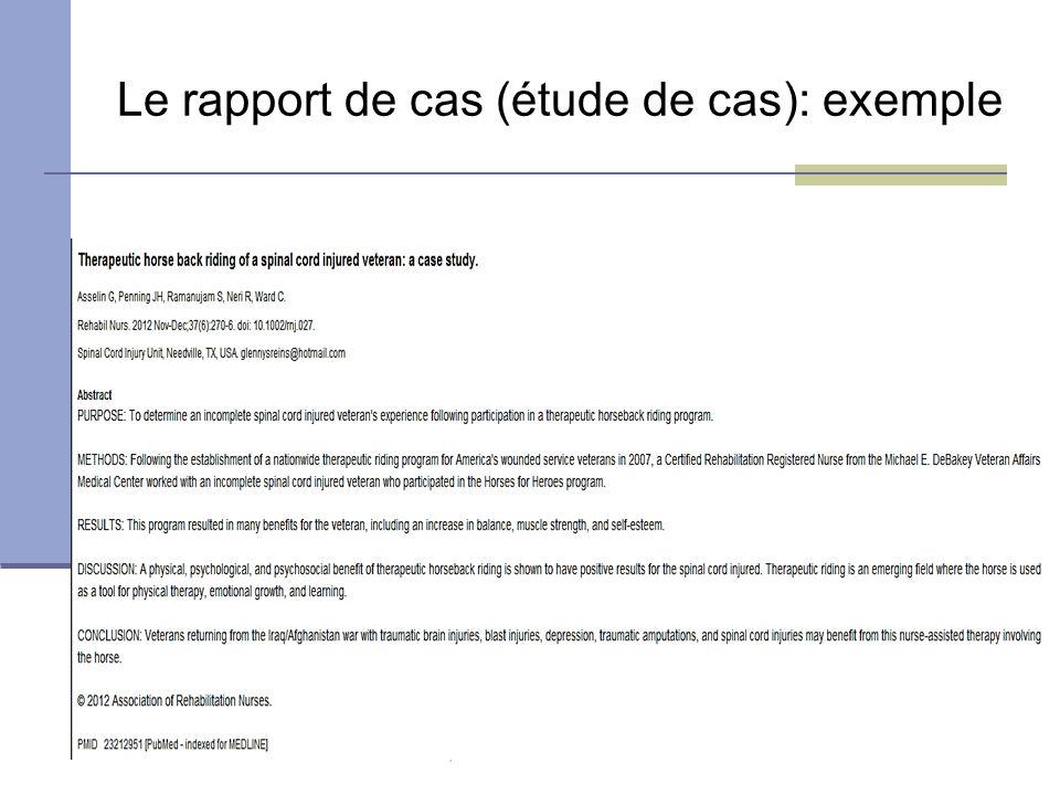 exemple etude de cas rapport de stage