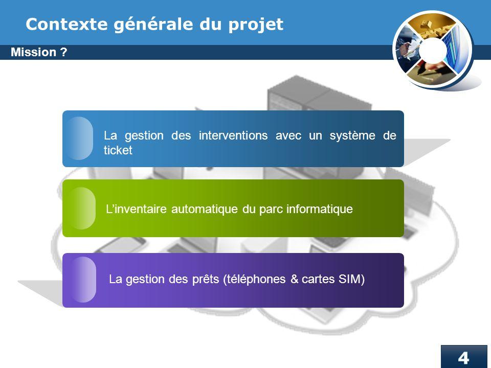 Contexte générale du projet
