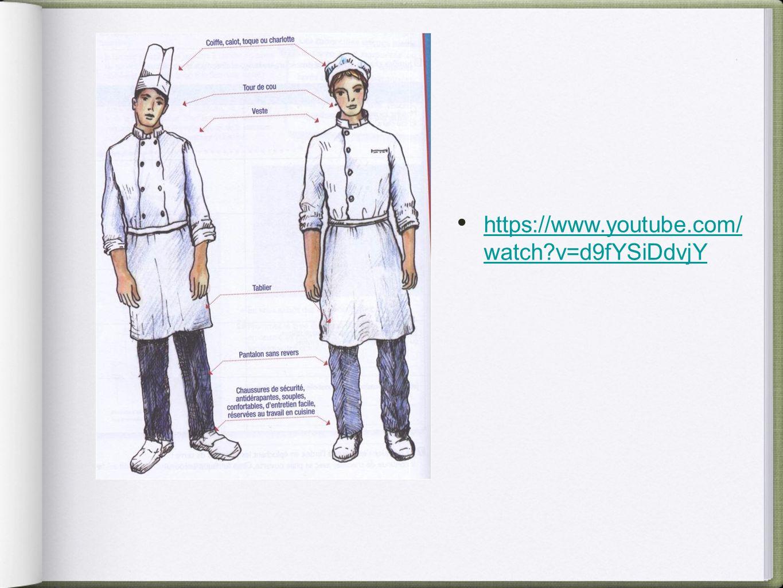 L hygi ne hygi ne personnelle tenue professionelle ppt for Tenue professionnelle cuisine