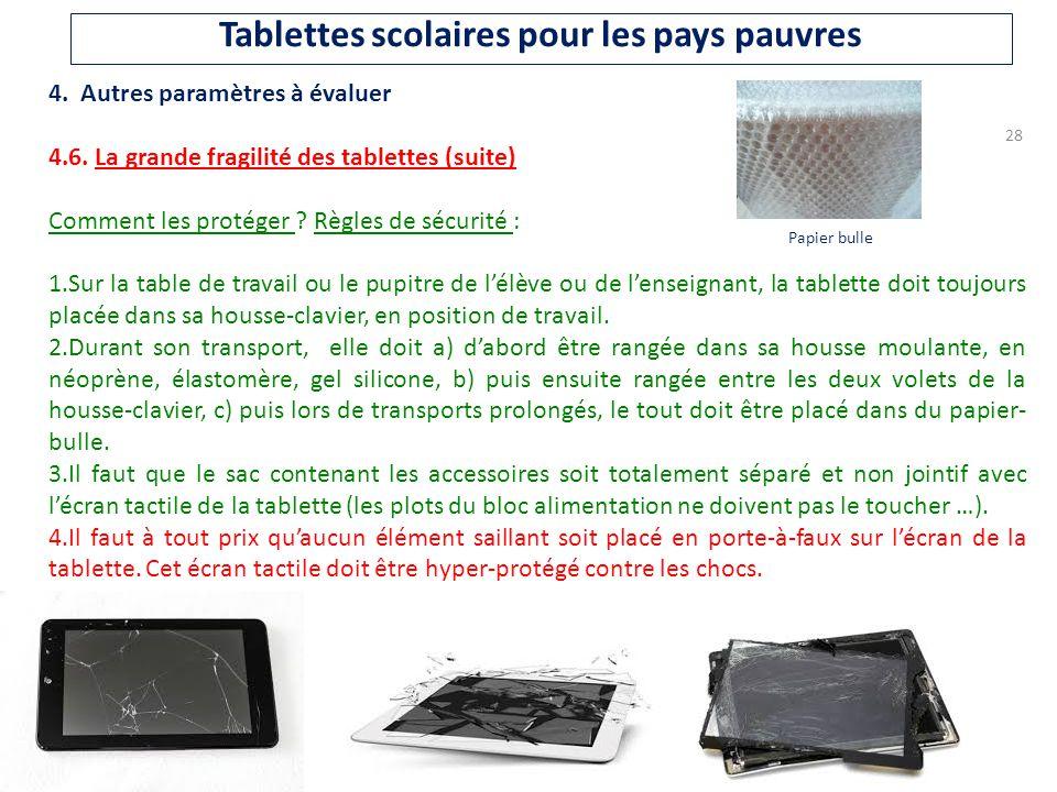 Projet de tablettes scolaires pour les pays en voie de - Plafond pour toucher la rentree scolaire ...