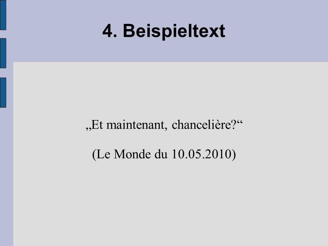 """""""Et maintenant, chancelière (Le Monde du 10.05.2010)"""