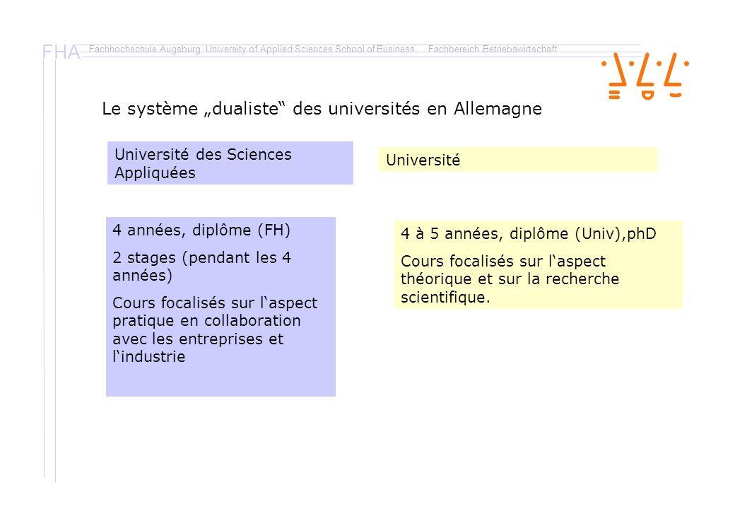 """Le système """"dualiste des universités en Allemagne"""