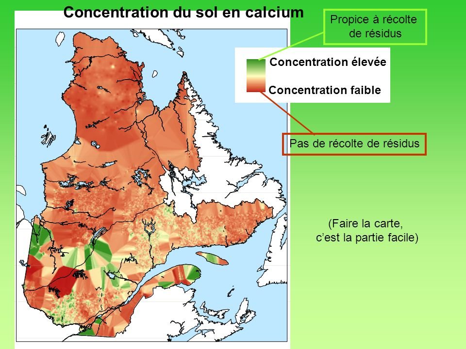 Concentration du sol en calcium