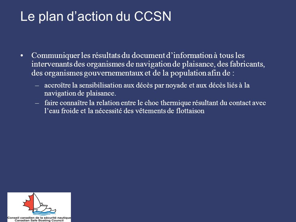 Le plan d'action du CCSN