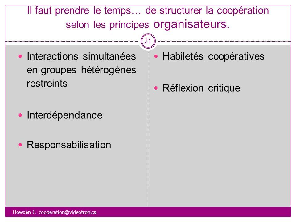 Interactions simultanées en groupes hétérogènes restreints