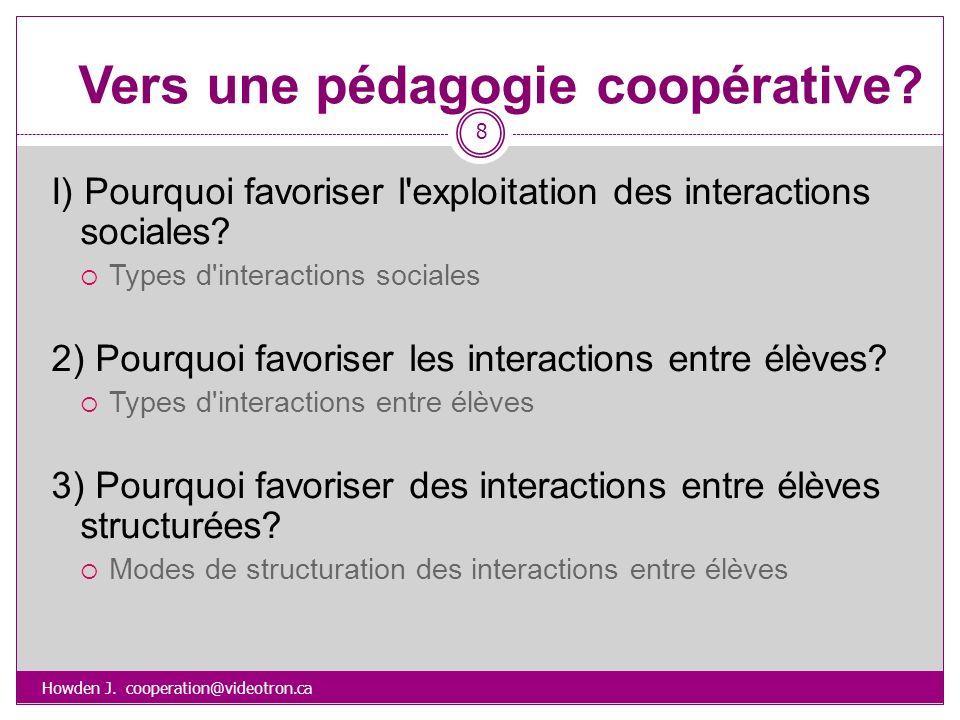 Vers une pédagogie coopérative