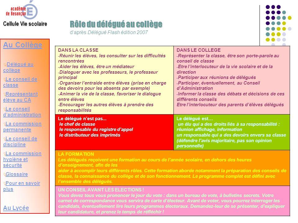 Cellule vie scolaire n b pour avancer dans ce - Difference entre conseil d administration et bureau ...