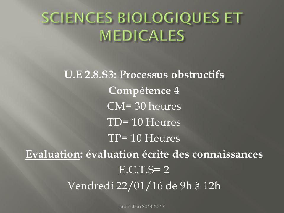 SCIENCES BIOLOGIQUES ET MEDICALES