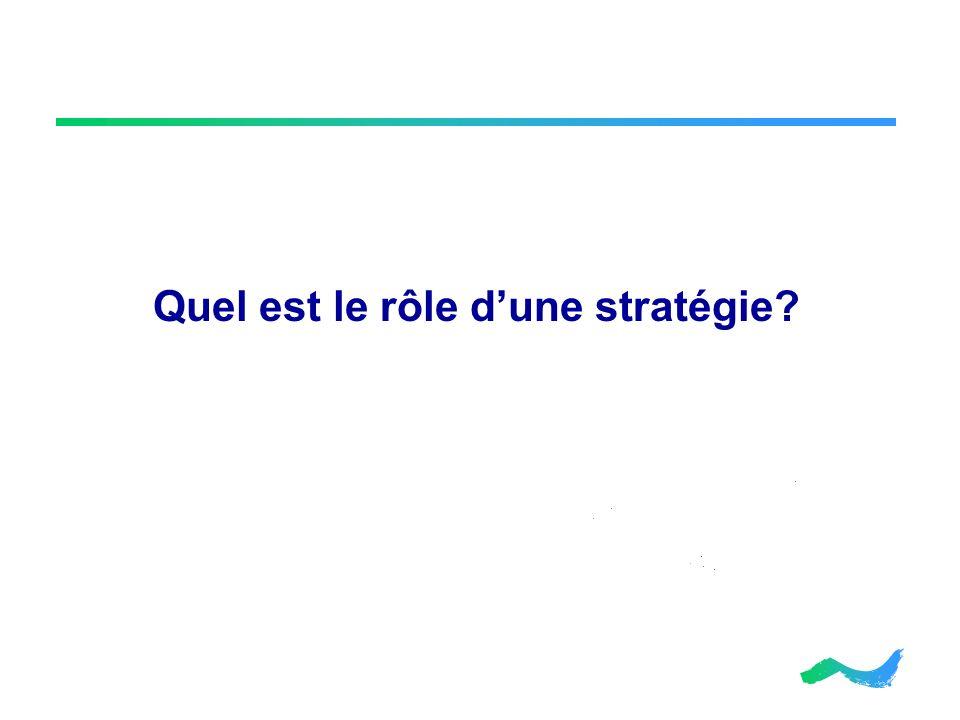 Quel est le rôle d'une stratégie