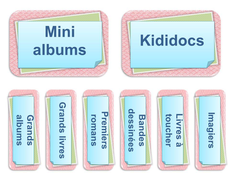 Mini albums Kididocs Grands livres Bandes dessinées Premiers romans