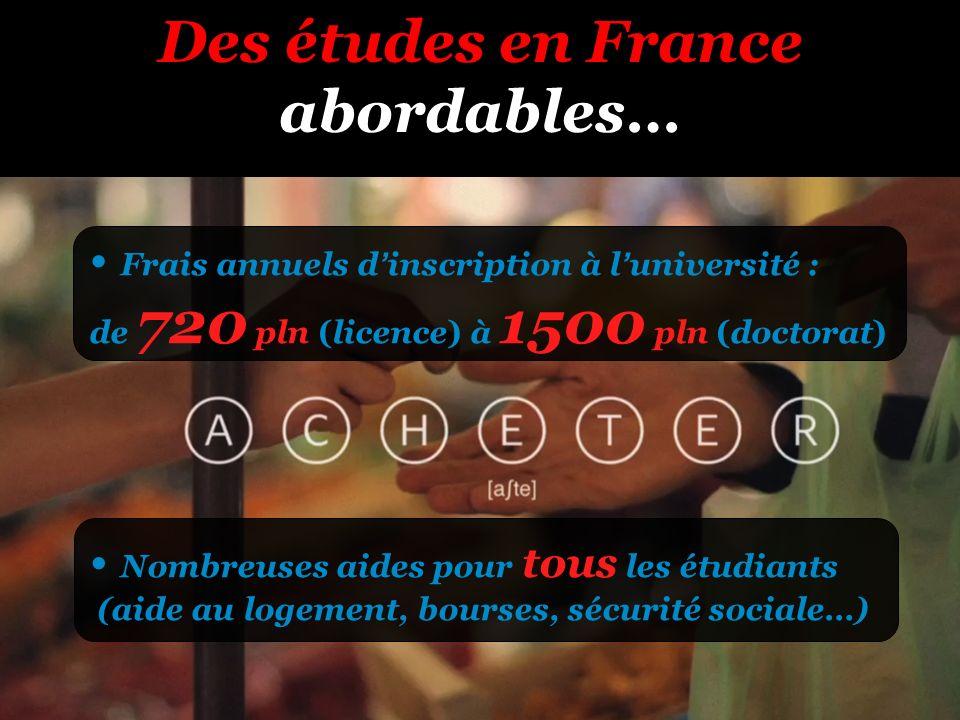 Des études en France abordables…