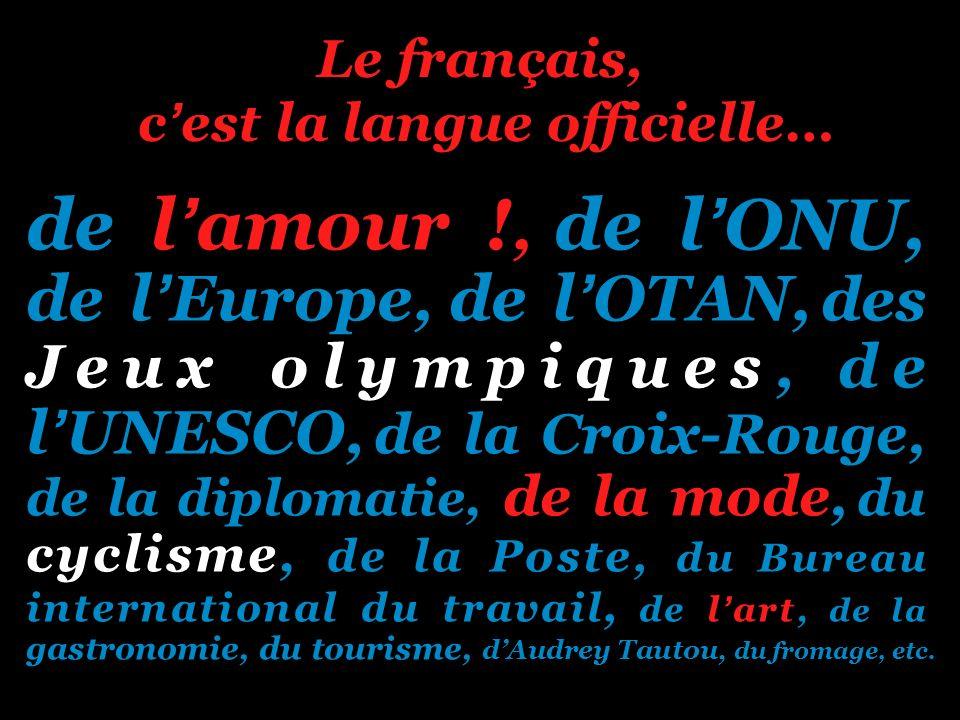 Le français, c'est la langue officielle…
