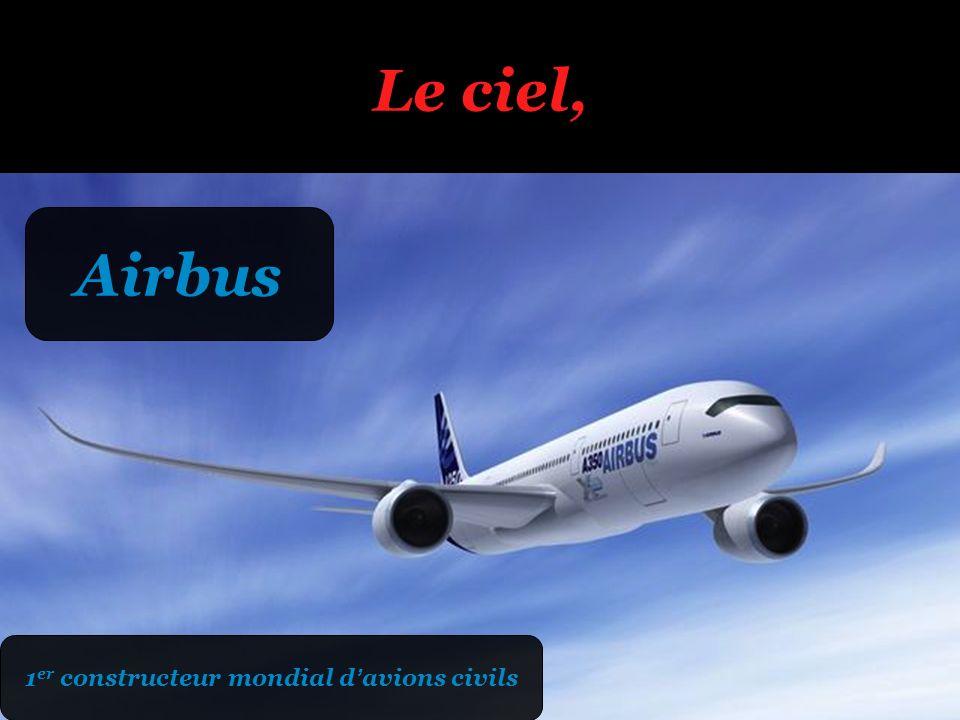 1er constructeur mondial d'avions civils