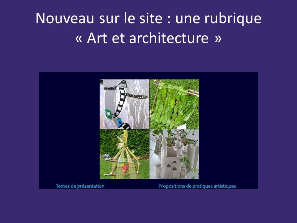 Les projets pour l ann e en arts visuels et en ducation for Art et architecture