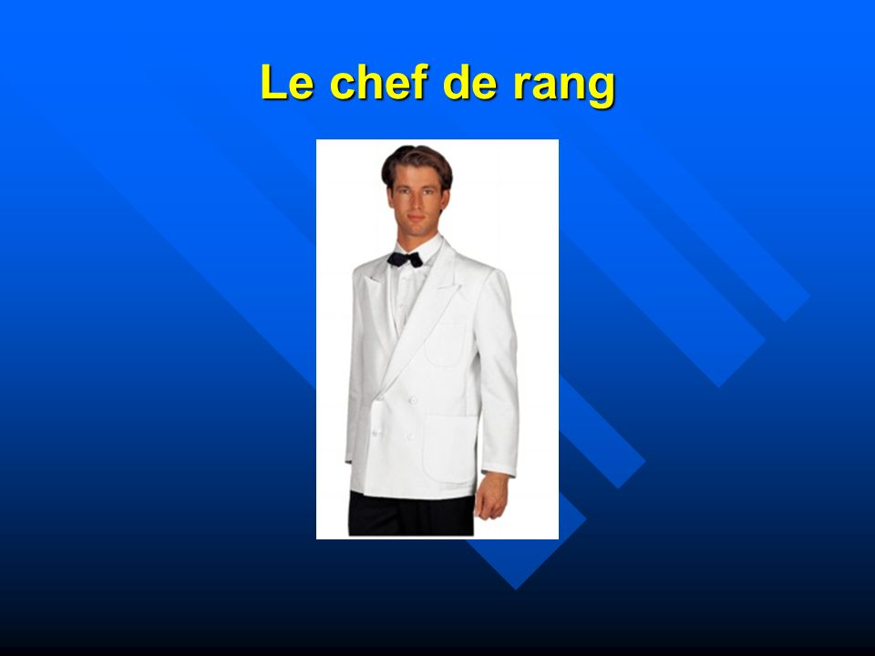 La brigade de restaurant ppt video online t l charger for Chef de rang