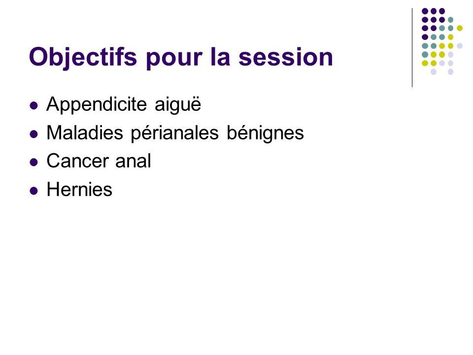 Objectifs pour la session