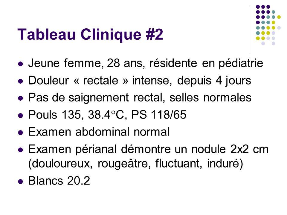Tableau Clinique #2 Jeune femme, 28 ans, résidente en pédiatrie