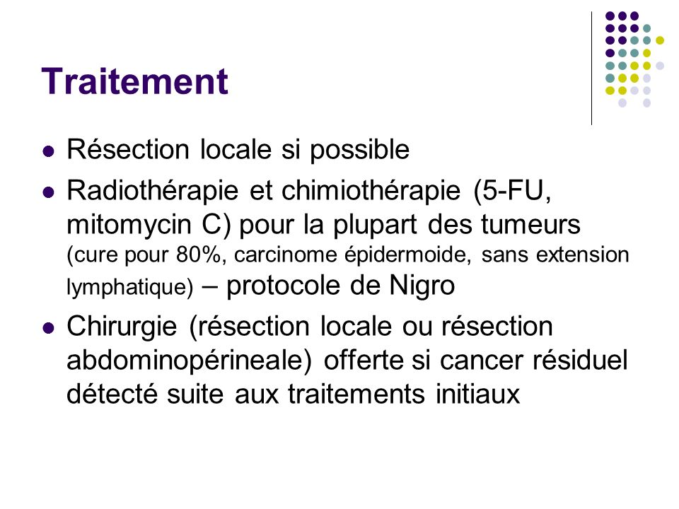 Traitement Résection locale si possible