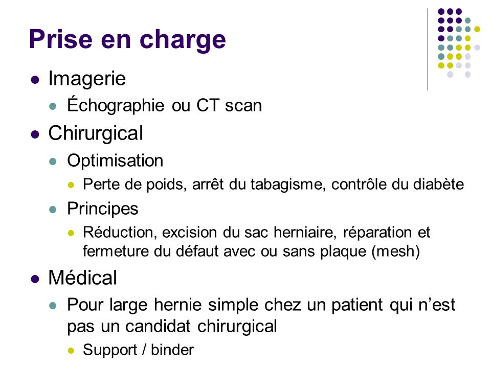 Prise en charge Imagerie Chirurgical Médical Échographie ou CT scan