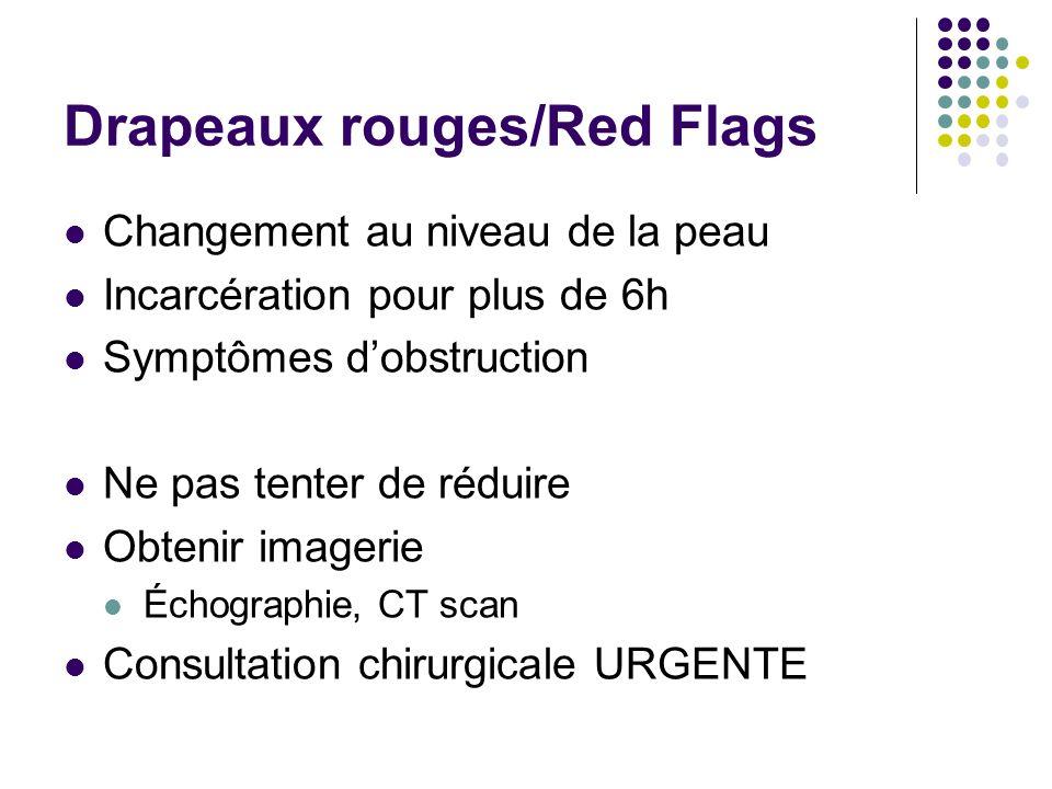 Drapeaux rouges/Red Flags