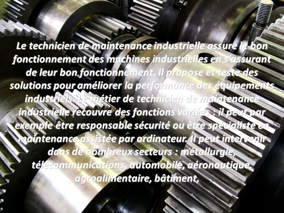 Technicien technicienne en maintenance industrielle ppt - Grille salaire technicien maintenance industrielle ...